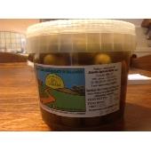 Olive verdi schiacciate in salamoia - 1 Kg.