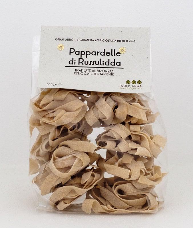 Pappardelle semola di grano duro Russello bio di Russulidda Fastuchera - 500 gr.