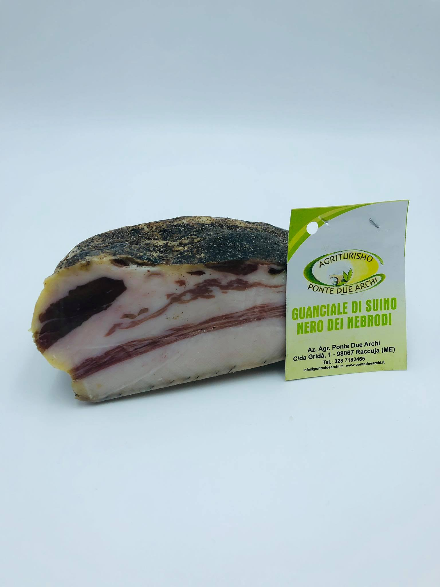 Nebrodi Black Pork Cheek (Guanciale di Suino Nero dei Nebrodi) - Ponte due Archi